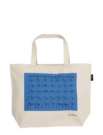 Iittala Otc Canvas Bag 50x38cm Birdhouse Shopper Laukku Monivärinen/Kuvioitu Iittala BLUE