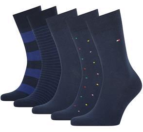 Tommy Hilfiger miesten sukat 5 paria lahjapakkaus, tummansininen 43-46