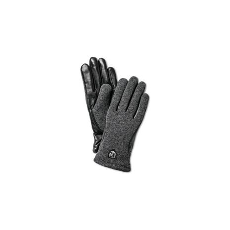 Hestra Classic Wool Tricot naisten sormikas, musta/grafiitti, koko 6