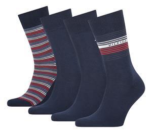Tommy Hilfiger miesten sukat 4 paria lahjapakkaus, tummansininen 43-46