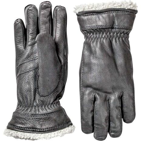 Hestra Deerskin Primaloft Lady naisten sormikkaat, mustat, koko 8