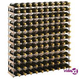 vidaXL Viinipulloteline 120 pullolle kierrätetty puu