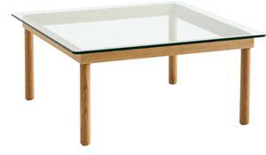 Hay Hay-Kofi Coffee Table Oak frame /clear glass 80x80