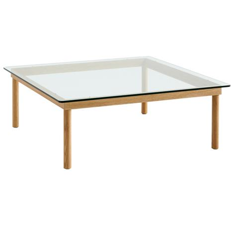 Hay Hay-Kofi Coffee Table Oak frame /clear glass 100x100