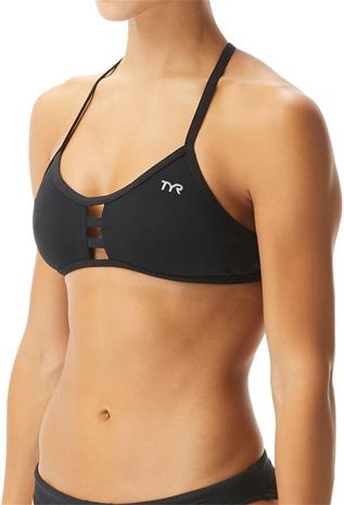 TYR Solid Pacific Tieback Bikini Top Women, musta, Naisten uimapuvut ja bikinit