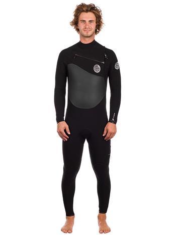 Rip Curl Flashbomb 4/3 GB Chest Zip Wetsuit black Miehet
