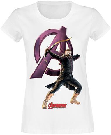 Marvel's The Avengers - Hawkeye - T-paita - Naiset - Valkoinen
