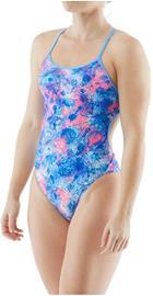 TYR Vari Braidfit Swimsuit Women, violetti/vaaleanpunainen