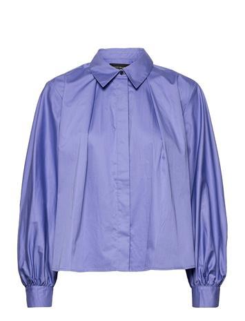 Scotch & Soda Pleated Boxy Fit Shirt Pitkähihainen Pusero Paita Sininen Scotch & Soda CORNFLOWER