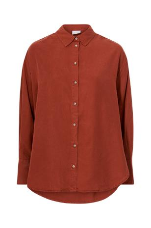 Vila - Paita viJura Listi L/S Oversized Shirt - Punainen