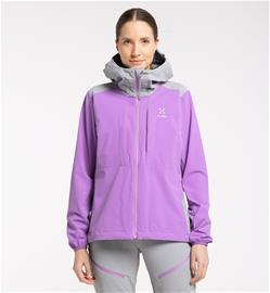 Haglöfs Discover Touring Jacket Women - Naiset - XL - Purple Ice/Concrete