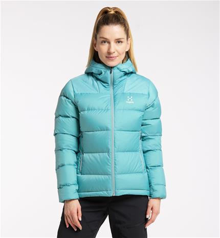 Haglöfs Bield Down Hood Women - Naiset - XS - Frost Blue