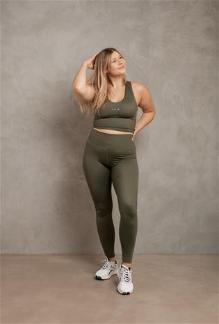Lilja the Label naisten korkeavyötäröiset leggingsit - Kierrätettyä nylonia, Army / XL, Naisten housut ja shortsit