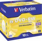 DVD+RW-aihio (4,7 Gt), 10 kpl