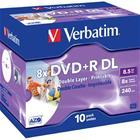 DVD+R-aihio (kaksikerroksinen, 8,5 Gt), 10 kpl