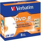DVD-R-aihio (4,7 Gt), 5 kpl