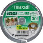 DVD-R-aihio, 8 cm (1,4 Gt eli 30 min), 10 kpl