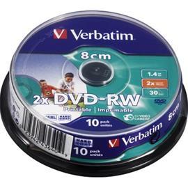 DVD-RW-aihio, 8 cm (1,4 Gt), 10 kpl