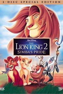Leijonakuningas 2: Jylhäkallion ylpeys (The Lion King 2: Simba's Pride, Blu-Ray + dvd), elokuva