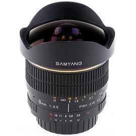Samyang MF 8mm f/3.5 Fisheye, objektiivi