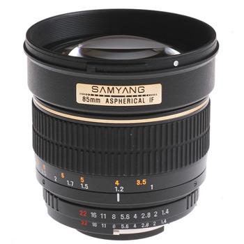 Samyang MF 85mm f/1.4, objektiivi