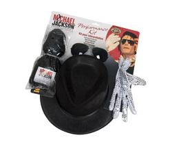 Rubie's, lasten Michael Jackson naamiaissetti (peruukki, lasit, hattu ja hanskat)
