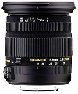 Sigma 17-50mm f/2.8 EX DC OS HSM, objektiivi