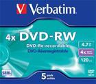 DVD-RW-aihio (4,7 Gt), 5 kpl