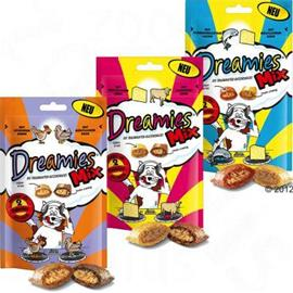 Dreamies Mix - säästöpakkaus: kana ja ankka (6 x 60 g)