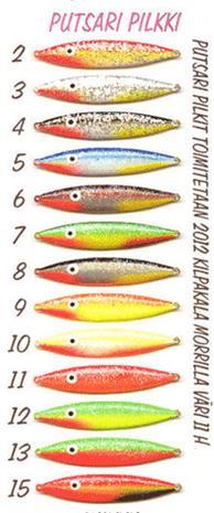 Putsari pilkki 18g koko:18 Väri: 9