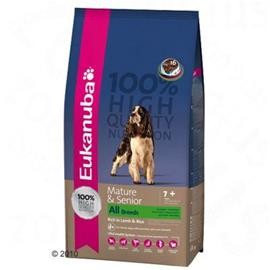 Eukanuba Mature & Senior Lamb & Rice - säästöpakkaus: 2 x 12 kg