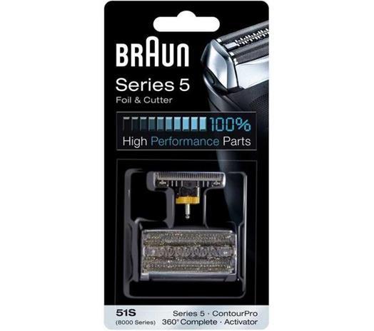 Braun 51S Series 5, teräverkko ja terä