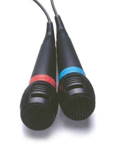 SingStar langattomat mikrofonit 2 kpl, (PS2/PS3/PS4)