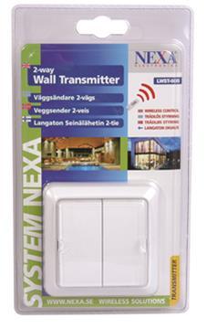 Nexa LWST-605, langaton virtakytkin seinään (2-kanavainen)