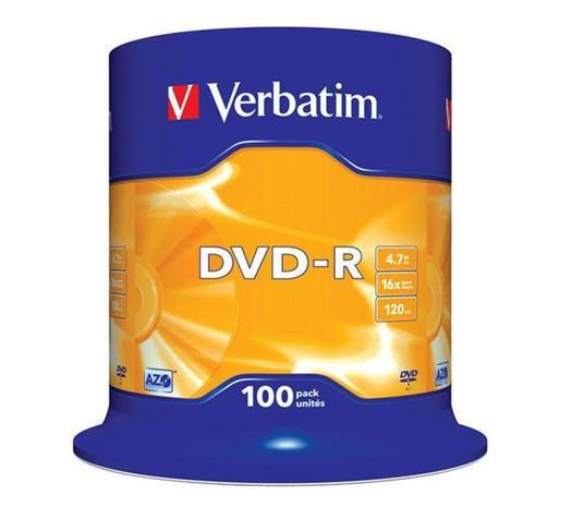 DVD-R-aihio (4,7 Gt), 100 kpl
