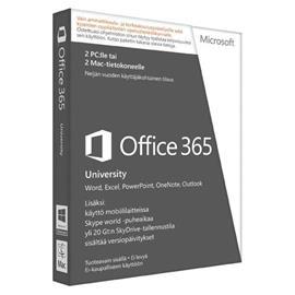 Microsoft Office 365 University, toimisto-ohjelmisto