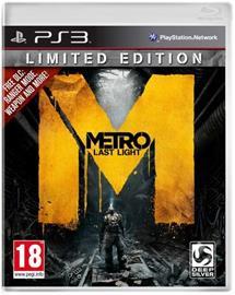 Metro: Last Light Limited Edition, PS3-peli