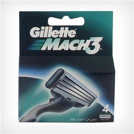 Gillette Mach3, vaihtoterät 4 kpl