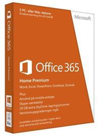 Microsoft Office 365 Home Premium 12 kk, toimisto-ohjelmisto