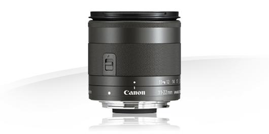 Canon EF-M 11-22mm f/4-5.6 IS STM, objektiivi